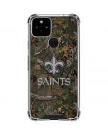 New Orleans Saints Realtree Xtra Green Camo Google Pixel 5 Clear Case