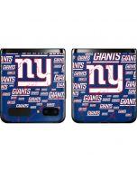 New York Giants Blast Galaxy Z Flip Skin