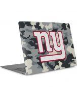 New York Giants Camo Apple MacBook Air Skin