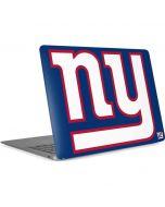 New York Giants Large Logo Apple MacBook Air Skin