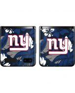 New York Giants Tropical Print Galaxy Z Flip Skin