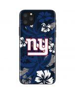 New York Giants Tropical Print iPhone 11 Pro Max Skin