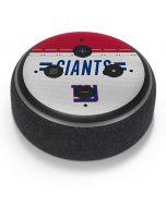 New York Giants White Striped Amazon Echo Dot Skin