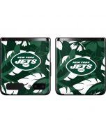 New York Jets Tropical Print Galaxy Z Flip Skin