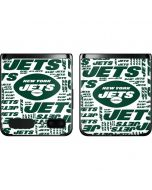 New York Jets White Blast Galaxy Z Flip Skin