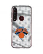 New York Knicks Away Jersey Moto G8 Plus Clear Case