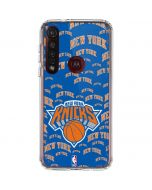 New York Knicks Blast Moto G8 Plus Clear Case