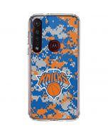 New York Knicks Digi Camo Moto G8 Plus Clear Case