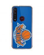 New York Knicks Large Logo Moto G8 Plus Clear Case