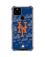 New York Mets - Cap Logo Blast Google Pixel 5 Clear Case