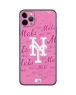 New York Mets - Pink Cap Logo Blast iPhone 11 Pro Max Skin