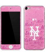 New York Mets - Pink Cap Logo Blast Apple iPod Skin