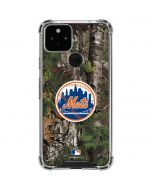 New York Mets Realtree Xtra Green Camo Google Pixel 5 Clear Case