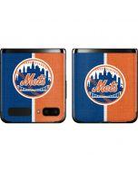 New York Mets Split Galaxy Z Flip Skin