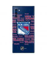 New York Rangers Blast Galaxy Note 10 Skin