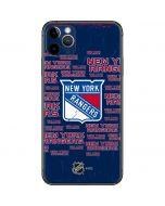 New York Rangers Blast iPhone 11 Pro Max Skin
