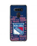 New York Rangers Blast LG K51/Q51 Clear Case