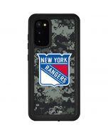 New York Rangers Camo Galaxy S20 Waterproof Case