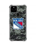New York Rangers Camo Google Pixel 5 Clear Case