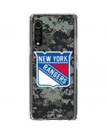 New York Rangers Camo LG Velvet Clear Case