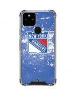 New York Rangers Frozen Google Pixel 5 Clear Case