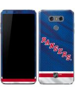 New York Rangers Home Jersey LG G6 Skin