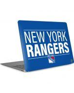New York Rangers Lineup Apple MacBook Air Skin