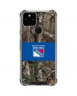 New York Rangers Realtree Xtra Camo Google Pixel 5 Clear Case