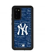 New York Yankees - Cap Logo Blast Galaxy S20 Waterproof Case