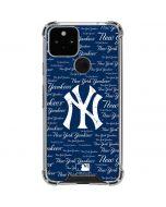 New York Yankees - Cap Logo Blast Google Pixel 5 Clear Case