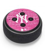 New York Yankees - Pink Cap Logo Blast Amazon Echo Dot Skin