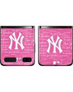 New York Yankees - Pink Cap Logo Blast Galaxy Z Flip Skin