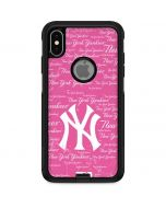New York Yankees - Pink Cap Logo Blast Otterbox Commuter iPhone Skin