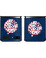 New York Yankees- Alternate Solid Distressed Galaxy Z Flip Skin