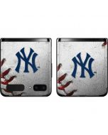 New York Yankees Game Ball Galaxy Z Flip Skin