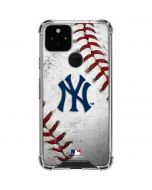 New York Yankees Game Ball Google Pixel 5 Clear Case