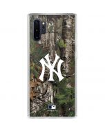 New York Yankees Realtree Xtra Green Camo Galaxy Note 10 Plus Clear Case