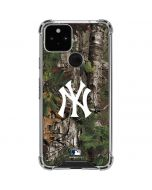 New York Yankees Realtree Xtra Green Camo Google Pixel 5 Clear Case