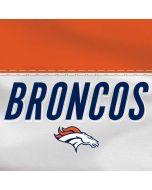 Denver Broncos White Striped Moto X4 Skin