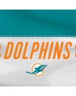 Miami Dolphins White Striped Dell XPS Skin