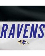 Baltimore Ravens White Striped Dell XPS Skin