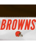 Cleveland Browns White Striped Yoga 910 2-in-1 14in Touch-Screen Skin