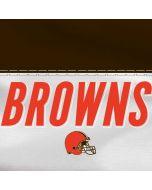Cleveland Browns White Striped Galaxy S6 Edge Skin