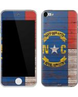 North Carolina Flag Dark Wood Apple iPod Skin