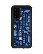 North Carolina Tar Heels Print Galaxy S20 Waterproof Case