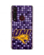 Northern Iowa Checkered Moto G8 Plus Clear Case