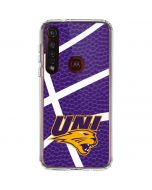 Northern Iowa Panthers Leather Moto G8 Plus Clear Case