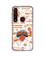 NY Knicks Historic Blast Moto G8 Plus Clear Case
