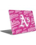 Oakland Athletics - Pink Cap Logo Blast Apple MacBook Air Skin