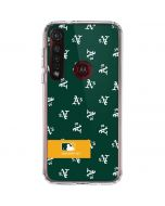 Oakland Athletics Full Count Moto G8 Plus Clear Case